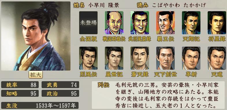 「小早川隆景」の画像検索結果