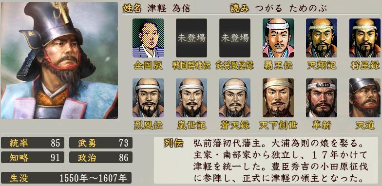 「津軽為信 画像」の画像検索結果